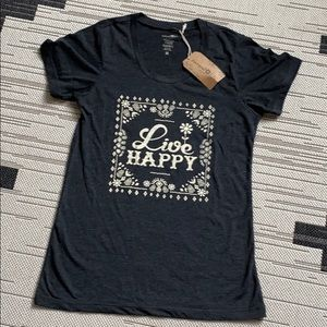 NWT LIVE HAPPY Natural Life T-Shirt S Tagged as M